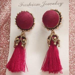 Fashion jewelry earrings fringe (flequillo)